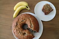 """<p>Yes, you need a bundt pan for this recipe, and yes, it's worth it. With shredded coconut and chopped dark chocolate, this is a step above an average banana bread. </p> <p><strong>Get the recipe:</strong> <a href=""""https://www.popsugar.com/food/chrissy-teigen-banana-bread-recipe-47365474"""" class=""""link rapid-noclick-resp"""" rel=""""nofollow noopener"""" target=""""_blank"""" data-ylk=""""slk:Chrissy Teigen's banana bread"""">Chrissy Teigen's banana bread</a></p>"""