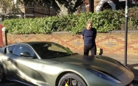 Gordon Ramsay picks up his new Ferrari Superfast 812 earlier this year - Credit: @hrowenferrari
