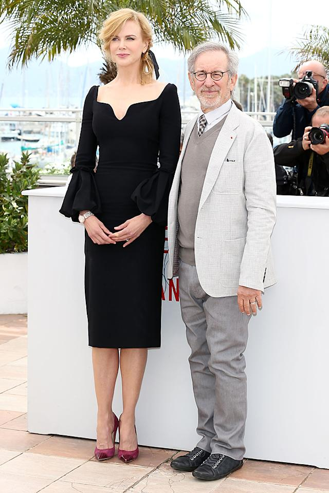 CANNES, FRANCE - MAY 15:  Jury member Nicole Kidman and Jury President Steven Spielberg attend the Jury Photocall during the 66th Annual Cannes Film Festival at the Palais des Festivals on May 15, 2013 in Cannes, France.  (Photo by Andreas Rentz/Getty Images)