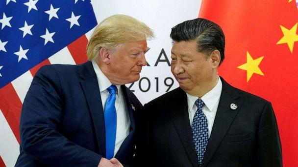 PHOTO: President Donald Trump meets with China's President Xi Jinping at the start of their bilateral meeting at the G20 leaders summit in Osaka, Japan, June 29, 2019. (Kevin Lamarque/Reuters, FILE)