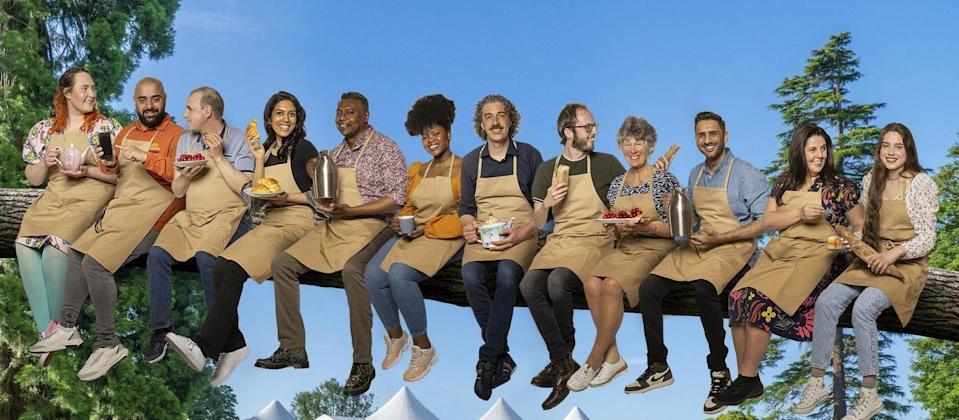 """<p>Grab your snacks and chuck on the telly, because Noel Fielding, Matt Lucas, Prue Leith and Paul Hollywood are very nearly back on Channel 4. <a href=""""https://www.cosmopolitan.com/uk/entertainment/a37470971/great-british-bake-off-2021-start-date/"""" rel=""""nofollow noopener"""" target=""""_blank"""" data-ylk=""""slk:The Great British Bake Off returns"""" class=""""link rapid-noclick-resp"""">The Great British Bake Off returns</a> next Tuesday 21st September at 8pm, and ahead of the launch, here's your first look at this year's GBBO contestants for the 2021 show. From a 19-year-old student to a Met Police detective, here's what to know about this year's competitors...</p>"""