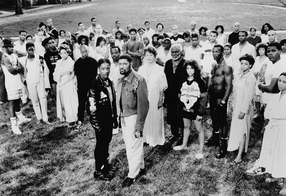 "<p>At the historically Black Mission College, the student body is divided over two competing ideals: the activists and politically minded led by Dep (Laurence Fishburne) and the rigid social order that comes with Greek life headed by Julian (Giancarlo Esposito). This iconic Black musical/comedy/drama was one of Spike Lee's earliest films. </p><p><a class=""link rapid-noclick-resp"" href=""https://www.netflix.com/title/60004109"" rel=""nofollow noopener"" target=""_blank"" data-ylk=""slk:Watch Now"">Watch Now</a></p>"