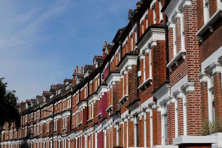 FILE PHOTO: Terraced houses are seen in Primrose Hill, London