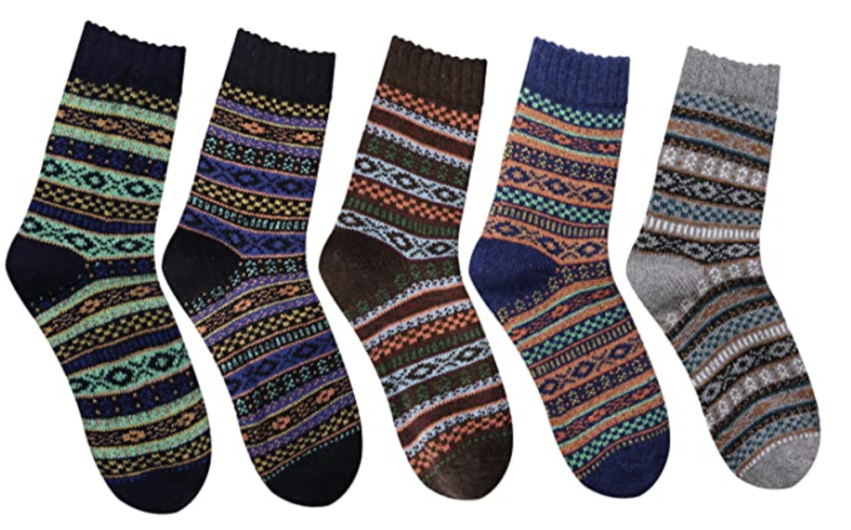 Break-apart gift alert: These socks come in a pack of five, so you can divvy them up and maybe even steal a pair for yourself. (Photo: Amazon)