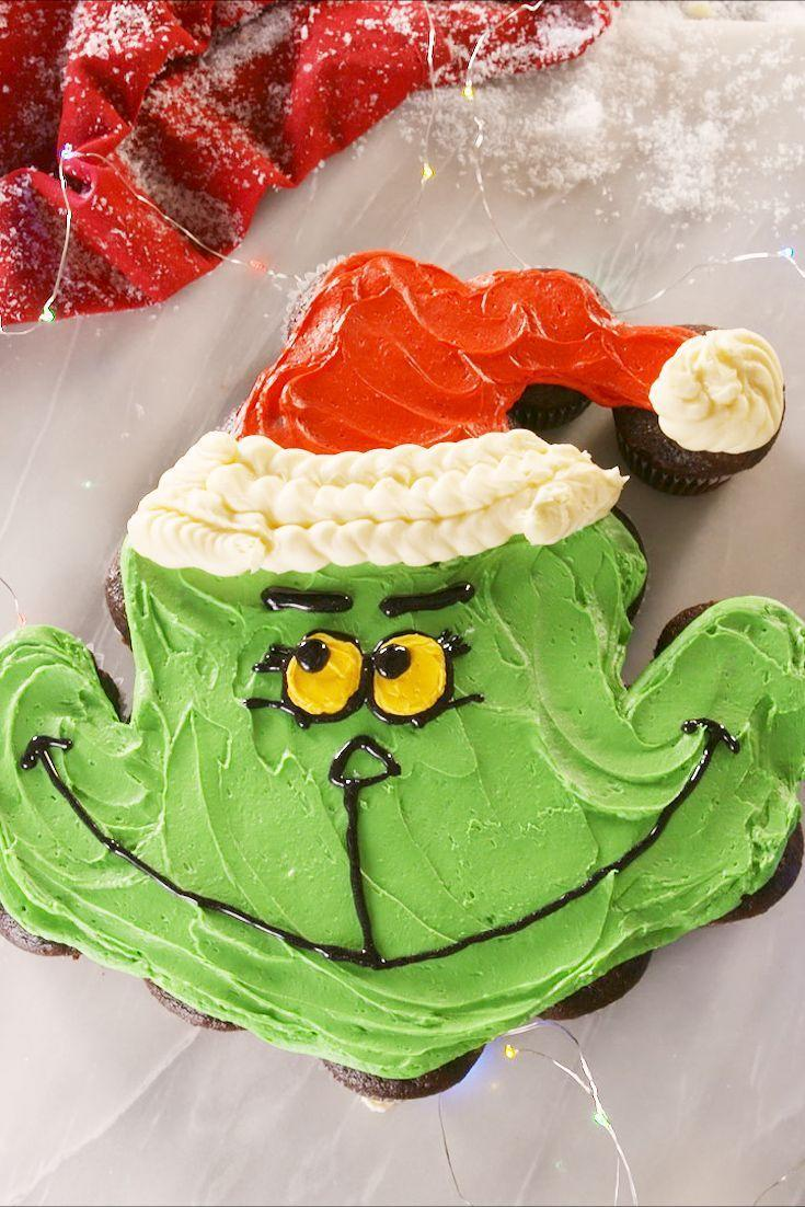 """<p>Wayyy easier to make than you think!</p><p>Get the recipe from <a href=""""https://www.delish.com/cooking/recipe-ideas/a24677813/grinchy-pull-apart-cupcakes-recipe/"""" rel=""""nofollow noopener"""" target=""""_blank"""" data-ylk=""""slk:Delish"""" class=""""link rapid-noclick-resp"""">Delish</a>. </p>"""