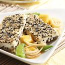 "<p>The tropical flavors of the hot chile-spiked pineapple noodles that accompany the crispy tofu in this dish will take the chill out of any cold day. <a href=""http://www.eatingwell.com/recipe/249628/sesame-crusted-tofu-with-spicy-pineapple-noodles/"" rel=""nofollow noopener"" target=""_blank"" data-ylk=""slk:View recipe"" class=""link rapid-noclick-resp""> View recipe </a></p>"