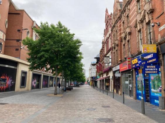 The streets of Leicester were all but deserted on Tuesday morning (Samuel Lovett)