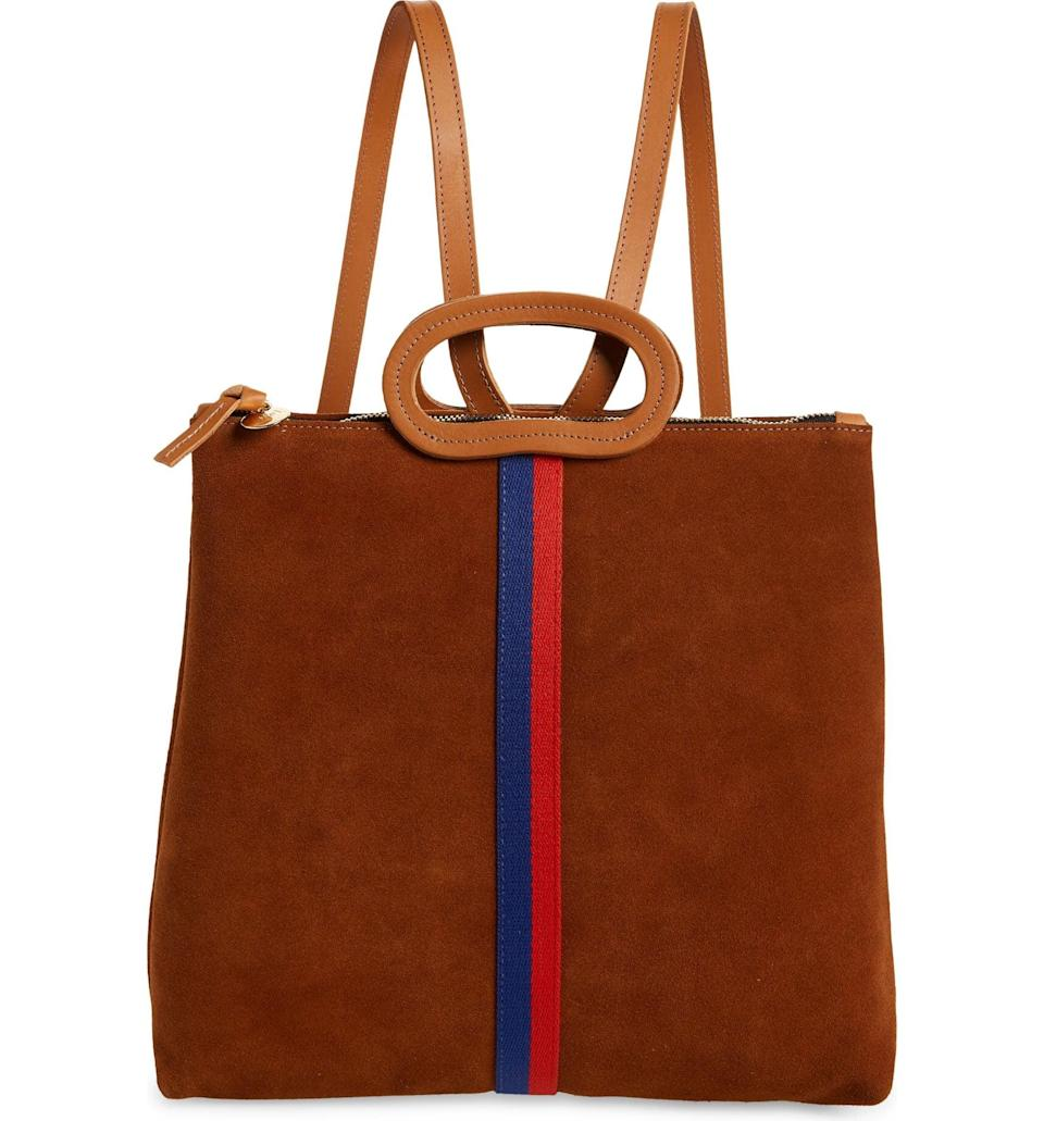 <p><span>Clare V Marcelle Suede Tote Backpack</span> ($239, originally $399)</p>