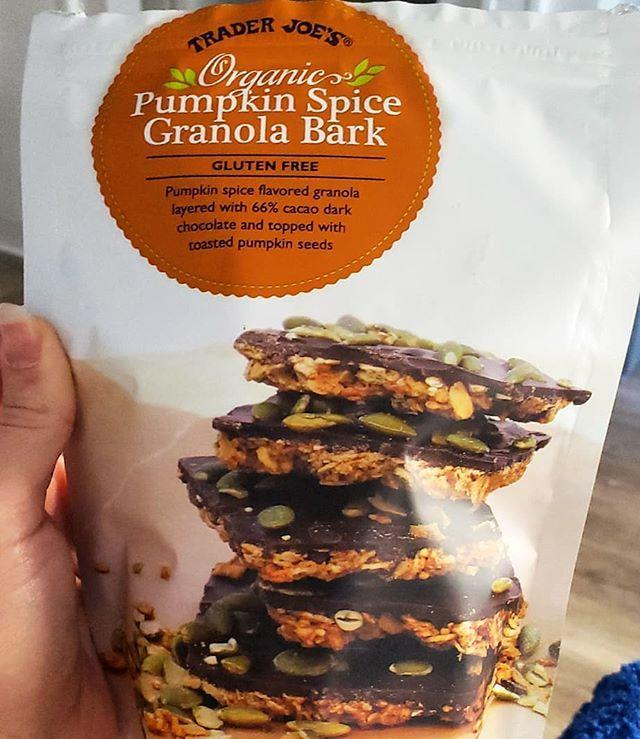"""<p>We'll be snacking on these all season. The bark is made with oats, almonds, quinoa, pumpkin seeds and purée, and dark chocolate, and it sounds like the trail mix-turned-cookie we never knew we needed.</p><p><a href=""""https://www.instagram.com/p/CE6bckopxYH/"""" rel=""""nofollow noopener"""" target=""""_blank"""" data-ylk=""""slk:See the original post on Instagram"""" class=""""link rapid-noclick-resp"""">See the original post on Instagram</a></p>"""