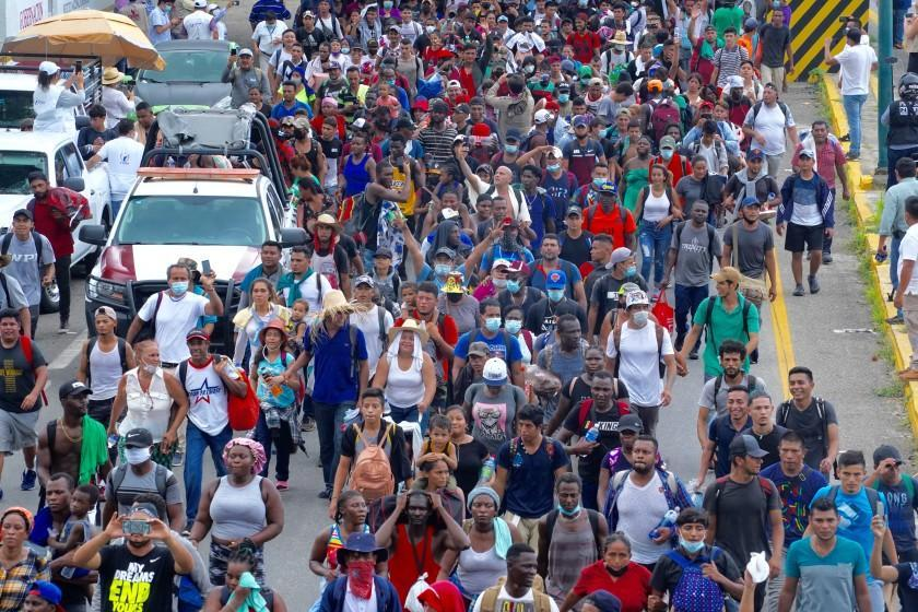 U.S.-bound caravan of more than 500 migrants, mostly Central Americans and Haitians, and including many Venezuelans, embarked on foot from southern Mexican city of Tapachula on Sept. 4. Many had been stranded for months in Tapachula and were extremely frustrated. They proceeded on the highway north amid the sweltering heat and tropical storms. National Guard and immigration authorities stopped and detained many of them the next day, Sept. 5th in the town of Huixtla, about 25 miles north of Tapachula. Mexican officials say a record number of migrants are now stuck in Tapachula and environs.