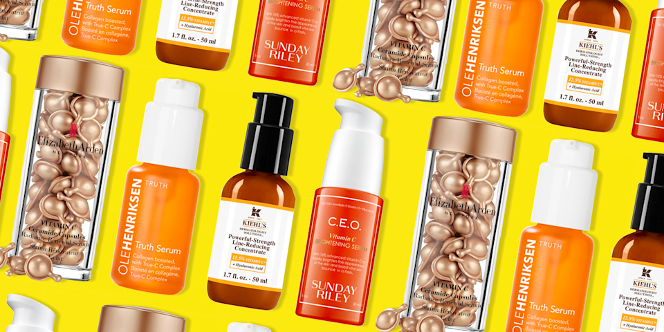 """<p>There are a whole lot of serums out there, from <a href=""""https://www.oprahmag.com/beauty/skin-makeup/g26065452/best-eyelash-serum/"""" rel=""""nofollow noopener"""" target=""""_blank"""" data-ylk=""""slk:eyelash serum"""" class=""""link rapid-noclick-resp"""">eyelash serum</a> to <a href=""""https://www.oprahmag.com/beauty/skin-makeup/g27529759/best-hyaluronic-acid-serum/"""" rel=""""nofollow noopener"""" target=""""_blank"""" data-ylk=""""slk:hyaluronic acid serum"""" class=""""link rapid-noclick-resp"""">hyaluronic acid serum</a> to anti-aging <a href=""""https://www.oprahmag.com/life/g25620076/best-face-serum/"""" rel=""""nofollow noopener"""" target=""""_blank"""" data-ylk=""""slk:face serum"""" class=""""link rapid-noclick-resp"""">face serum</a>. But what if you only have room in your <a href=""""https://www.oprahmag.com/style/g26822914/best-makeup-bags/"""" rel=""""nofollow noopener"""" target=""""_blank"""" data-ylk=""""slk:makeup bag"""" class=""""link rapid-noclick-resp"""">makeup bag</a> for one? Experts say to go with a vitamin C serum—because it <em>really</em> works. """"Vitamin C is a powerful antioxidant that fights fine lines by stimulating collagen, brightens your complexion by blocking excess pigment creation, and protects your skin from damaging free radical and other environmental stressors,"""" says <a href=""""https://www.drmichellehenry.com/"""" rel=""""nofollow noopener"""" target=""""_blank"""" data-ylk=""""slk:Dr. Michelle Henry"""" class=""""link rapid-noclick-resp"""">Dr. Michelle Henry</a>, clinical instructor of dermatology at Weill Cornell Medical College. """"As we age, though, the skin's natural levels of antioxidant vitamin C decrease, which is why it's so important to add it to your <a href=""""https://www.oprahmag.com/beauty/a29564898/what-is-face-serum/"""" rel=""""nofollow noopener"""" target=""""_blank"""" data-ylk=""""slk:skincare routine"""" class=""""link rapid-noclick-resp"""">skincare routine</a>."""" The one downside? Compared to most products, it often costs more per ounce. </p><p>To make sure you get the best return on your investment, here are a few things to keep in mind: Skip creams spiked with vit"""