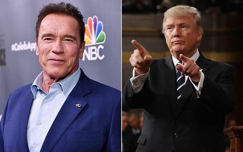 Arnold Schwarzenegger and Donald Trump have a long-running feud