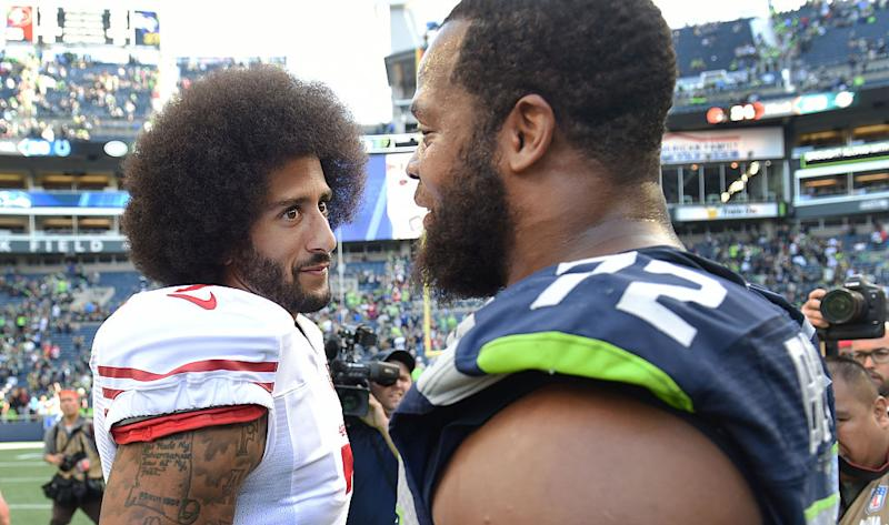 Michael Bennett Sits For National Anthem After Charlottesville Violence