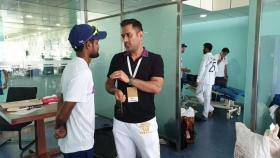 When homeboy MS Dhoni dropped in to meet Kohli and Co in Ranchi