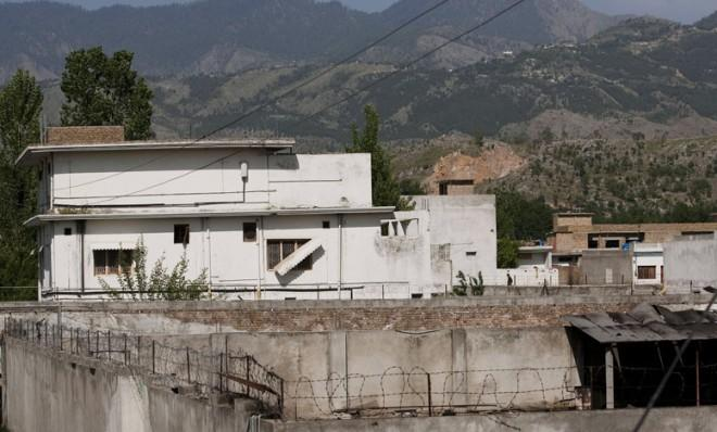 Osama bin Laden's compound in Abbottabad, Pakistan before it was torn down.