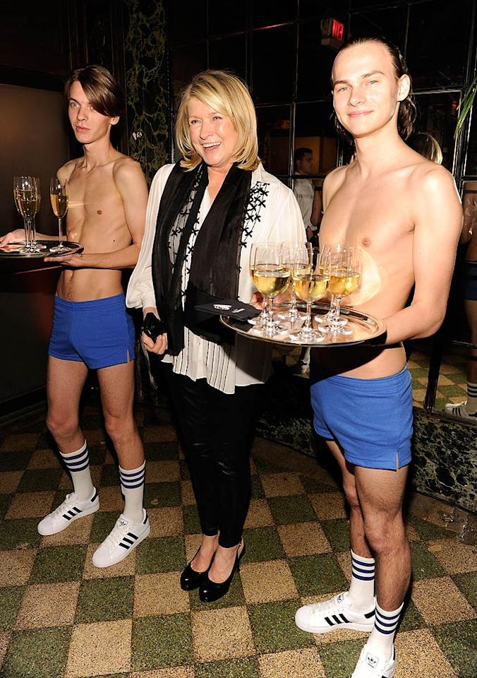 What do you think domestic diva Martha Stewart's party rules say about someone serving cocktails with their shirt off?! (October 18, 2011)