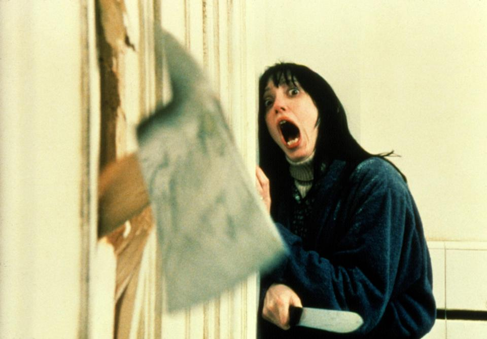 """<p>Parker says she actually watches <em>The Shining</em> almost yearly to get fall/winter fashion inspiration. """"Shelley Duvall's cozy 'fits are pure '70s perfection—but it's Jack Nicholson's maniacal facial expressions that really haunt you at night. The idea of not knowing who you're sleeping next to, that they could slowly slip into another cursed dimension where you're suddenly their prey, is unnerving to say the least."""" </p> <p><a href=""""https://www.amazon.com/Shining-Jack-Nicholson/dp/B000GOUMPI"""" rel=""""nofollow noopener"""" target=""""_blank"""" data-ylk=""""slk:Available to stream on Amazon Prime Video"""" class=""""link rapid-noclick-resp""""><em>Available to stream on Amazon Prime Video</em></a></p>"""