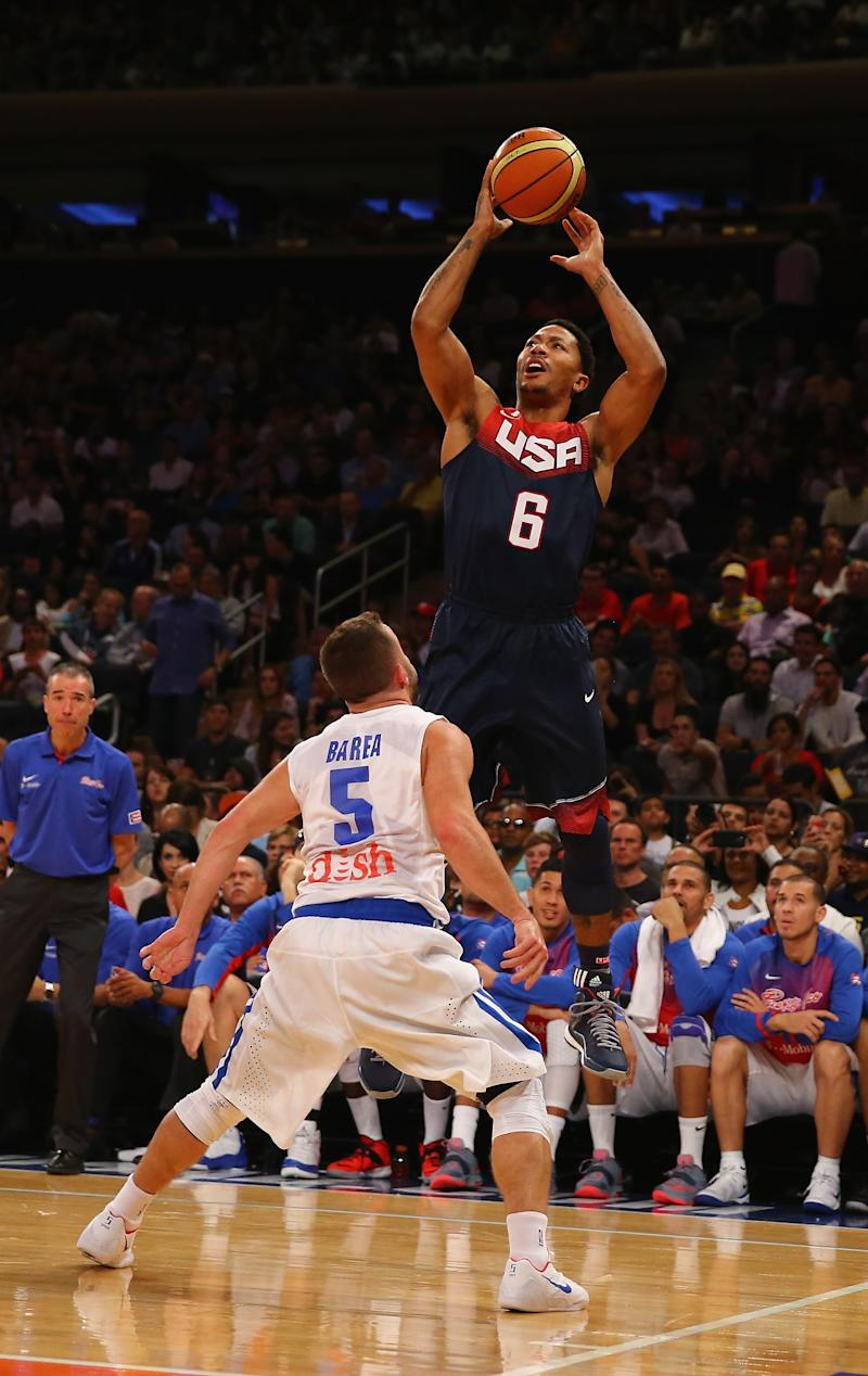 Basketball - US cuts world team to 12 after beating Puerto Rico