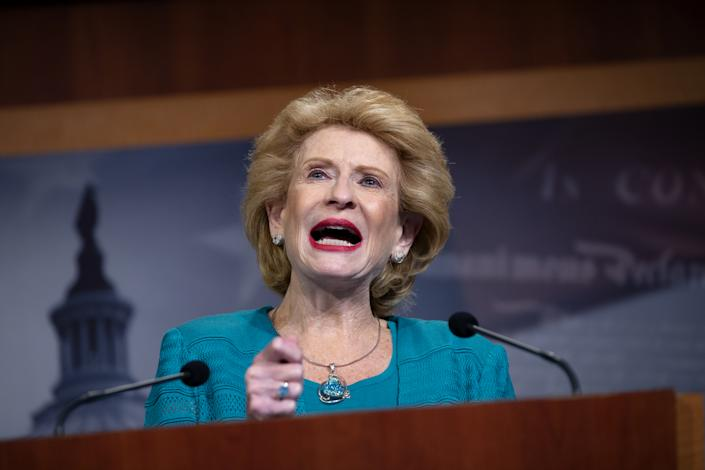 Senator Debbie Stabenow, a Democrat from Michigan, speaks during a news conference at the U.S. Capitol in Washington, D.C., U.S., on Tuesday, July 28, 2020. (Stefani Reynolds/Bloomberg via Getty Images)