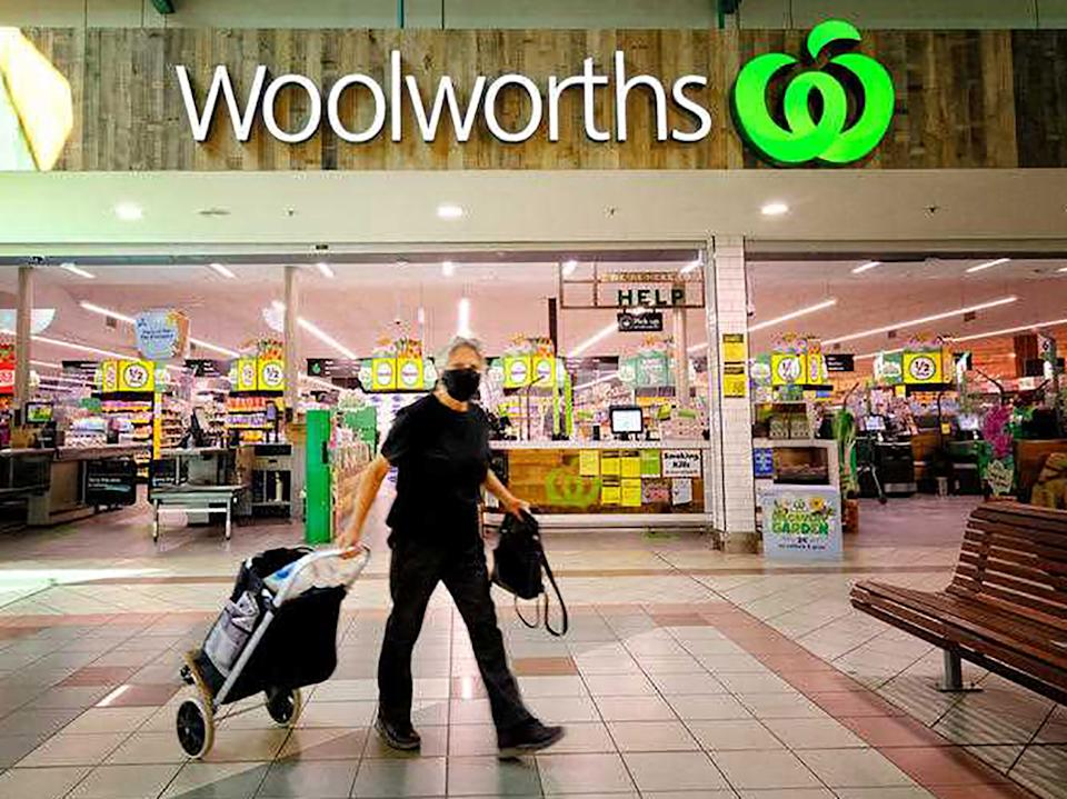 A Woolworths is pictured.