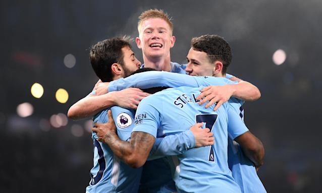 "<a class=""link rapid-noclick-resp"" href=""/soccer/teams/manchester-city/"" data-ylk=""slk:Manchester City"">Manchester City</a> has plenty to smile about these days, and it could have even more to smile about this spring. (Getty)"