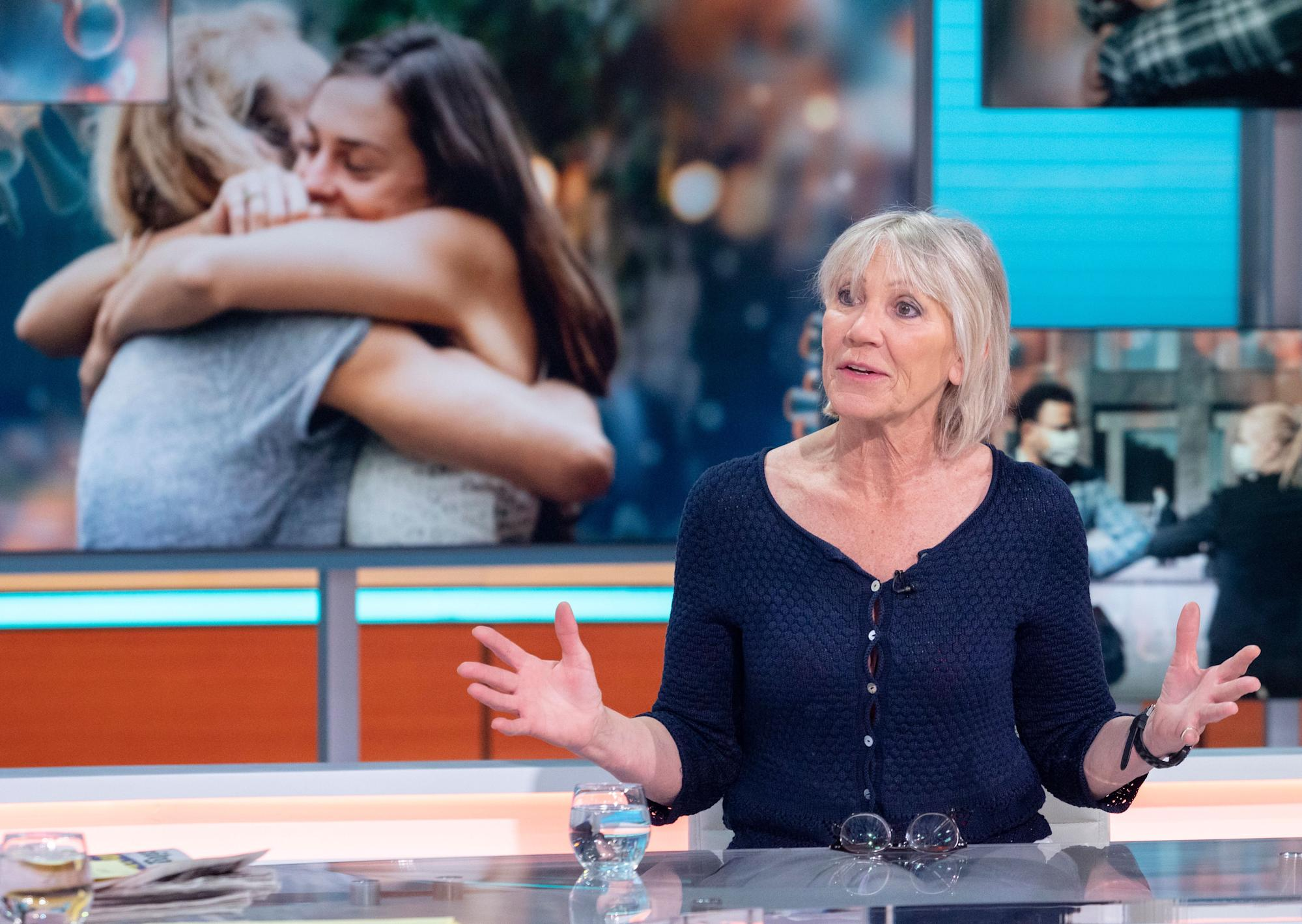 Ingrid Tarrant slammed as 'irresponsible' for continuing to hug but not getting vaccinated