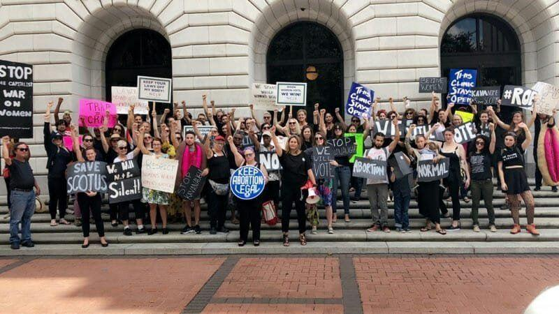 NOAF Rally to oppose 5th Circuit Court ruling upholding Louisiana's Act 620 abortion law. October 5th, 2018.