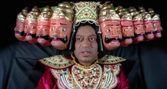 The film bears a testimony to Irrfan's brilliant range and natural comedic flair. The film's sequence with him dressed in Raavan's costume taking a car ride with a dog has a tremendous fan following proving the actor is as much of a hit in the Rohit Shetty brand of cinema.