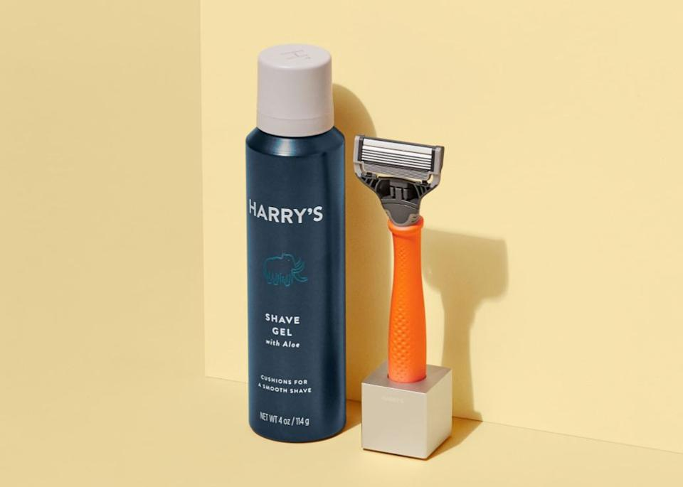 """<a href=""""https://fave.co/2NFtyD6"""" target=""""_blank"""" rel=""""noopener noreferrer"""">Harry's</a> is here to send you ongoing refills of blades and foaming shaving gel— ranging from $15 for eight blades to $35 for 16 blades and two gels. The starter set you first pick out is $13. You can choose to get your """"<a href=""""https://fave.co/2NFtyD6"""" target=""""_blank"""" rel=""""noopener noreferrer"""">Shave Plan Shipments</a>"""" every two, three or five months.<br /><br />Check out <a href=""""https://fave.co/2NFtyD6"""" target=""""_blank"""" rel=""""noopener noreferrer"""">Harry's subscription service</a>."""
