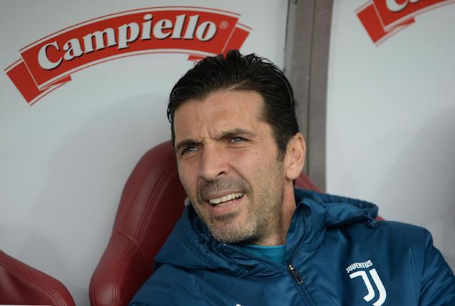 Soccer Football - Serie A - Torino vs Juventus - Stadio Olimpico Grande Torino, Turin, Italy - February 18, 2018 Juventus' Gianluigi Buffon sat on the bench before the match REUTERS/Massimo Pinca