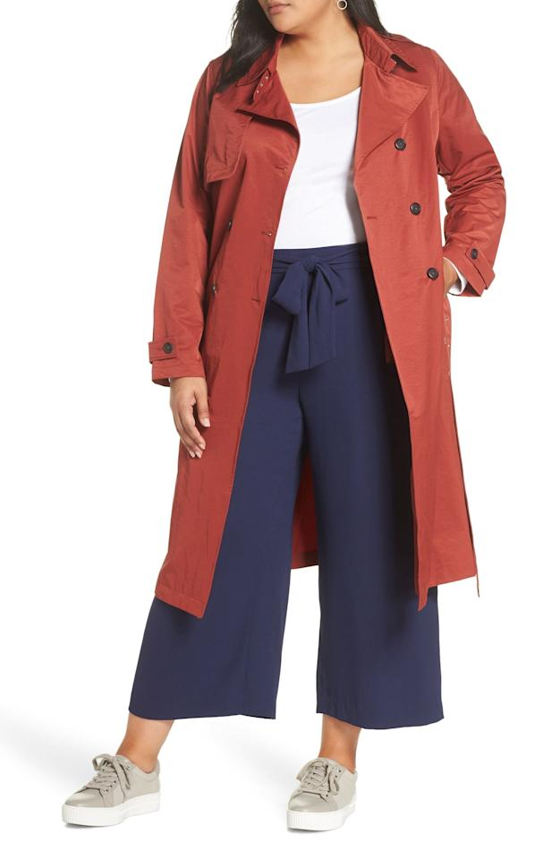 "$198, Nordstrom. <a href=""https://click.linksynergy.com/deeplink?id=3r4YdkDiq/o&mid=1237&murl=https%3A%2F%2Fshop.nordstrom.com%2Fs%2Fhalogen-double-breasted-trench-coat-plus-size%2F5082114%3Forigin%3Dcategory-personalizedsort%26breadcrumb%3DHome%252FSale%252FWomen%252FPlus%26color%3Dterracotta"">Get it now!</a>"