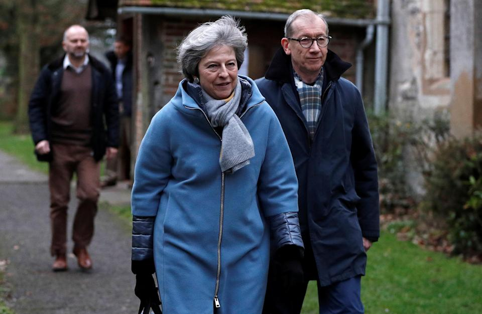 <em>Theresa May has warned of a 'catastrophic and unforgivable breach of trust' if MPs reject her Brexit deal (Picture: PA)</em>