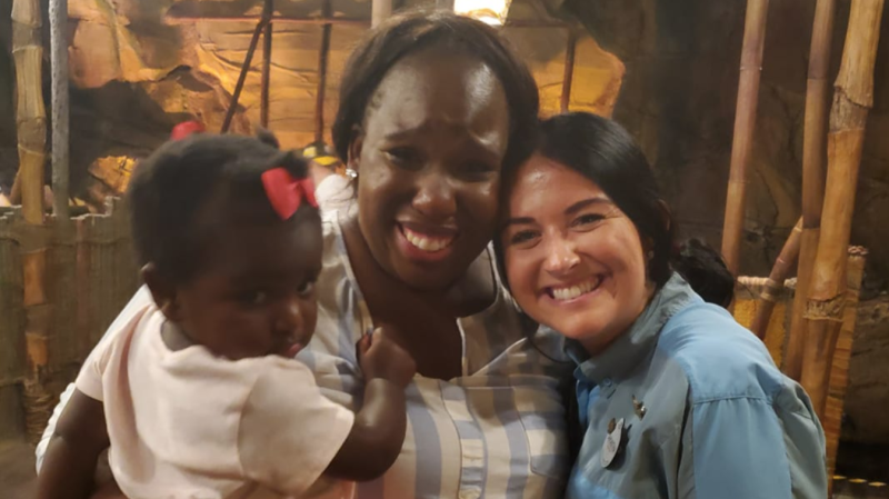 A claustrophobic mother took to Facebook to thank a worker at Disney's Animal Kingdom who helped keep her calm so she could enjoy a ride with her children. (Photo: Facebook)