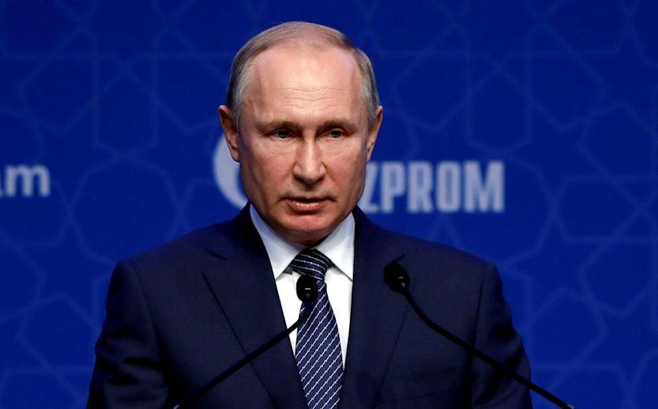 The Russian president, Vladimir Putin, insists gas is not being weaponised (Reuters)
