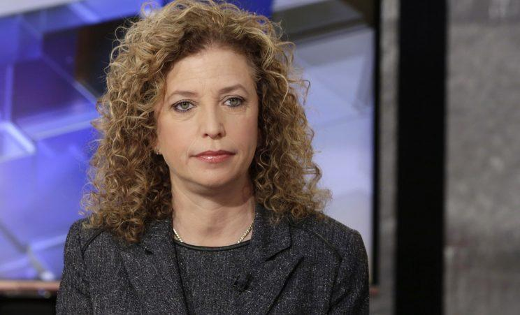 Chair of the Democratic National Committee and U.S. Rep Debbie Wasserman Schultz is interviewed on the Fox Business Network, March 21, 2016. (Photo: Richard Drew/AP)