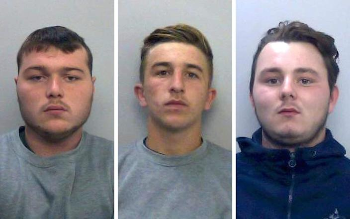 (left to right) Henry Long, Jessie Cole and Albert Bowers have all been convicted of manslaughter