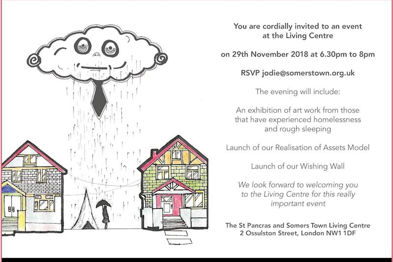 The invitation designed by Jamal which led to his first encounter with Ted Baker ()