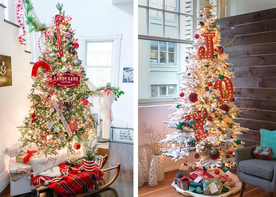 """<p>It's officially holiday season, which means you may have started planning how you want deck the halls with <a href=""""https://www.womansday.com/home/crafts-projects/g301/homemade-holiday-decorations/"""" rel=""""nofollow noopener"""" target=""""_blank"""" data-ylk=""""slk:Christmas decorations"""" class=""""link rapid-noclick-resp"""">Christmas decorations</a> this year. From where you want to put your <a href=""""https://www.womansday.com/home/decorating/g34291455/outdoor-christmas-decorations/"""" rel=""""nofollow noopener"""" target=""""_blank"""" data-ylk=""""slk:outdoor decorations"""" class=""""link rapid-noclick-resp"""">outdoor decorations</a> to the exact spot your <a href=""""https://www.womansday.com/life/a25683247/take-christmas-tree-down/"""" rel=""""nofollow noopener"""" target=""""_blank"""" data-ylk=""""slk:Christmas tree"""" class=""""link rapid-noclick-resp"""">Christmas tree</a> is going to be, you've got it down pat. Once you have the spot for the tree, however, then comes the more difficult part: What are you going to do with it? You could put up the same ornaments you always do, but if you're looking to switch things up, consider any of these gorgeous Christmas tree decorations instead. Whether you're big on Christmas and love to go all out for the holidays or you prefer to keep things simple, there are so many tree decorating ideas out there beyond the 50 <a href=""""https://www.womansday.com/home/crafts-projects/g2019/diy-christmas-ornaments/"""" rel=""""nofollow noopener"""" target=""""_blank"""" data-ylk=""""slk:Christmas ornaments"""" class=""""link rapid-noclick-resp"""">Christmas ornaments</a> that go on your tree every December. </p><p>Though the holidays will probably look a little different this year, considering <a href=""""https://www.womansday.com/life/work-money/a34328629/how-to-help-working-moms/"""" rel=""""nofollow noopener"""" target=""""_blank"""" data-ylk=""""slk:COVID-19 numbers"""" class=""""link rapid-noclick-resp"""">COVID-19 numbers</a> continue to sore and the CDC is advising against <a href=""""https://www.cdc.gov/coronavirus/2019-ncov/daily-life-coping/holidays.h"""