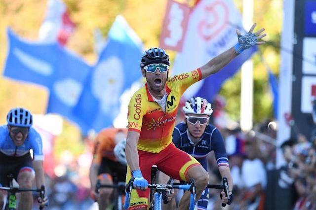 Newly-crowned World champion Alejandro Valverde targets a first Tour of Lombardy win (AFP Photo/Christof STACHE )