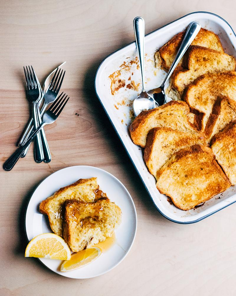 Make ahead cinnamon baked french toast for christmas morning ccuart Image collections