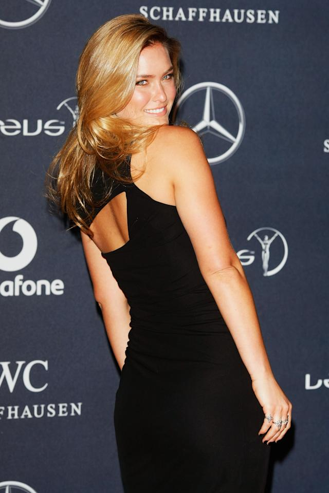 LONDON, ENGLAND - FEBRUARY 06:  Model Bar Refaeli attends the 2012 Laureus World Sports Awards at Central Hall Westminster on February 6, 2012 in London, England.  (Photo by Tom Dulat/Getty Images for Laureus)