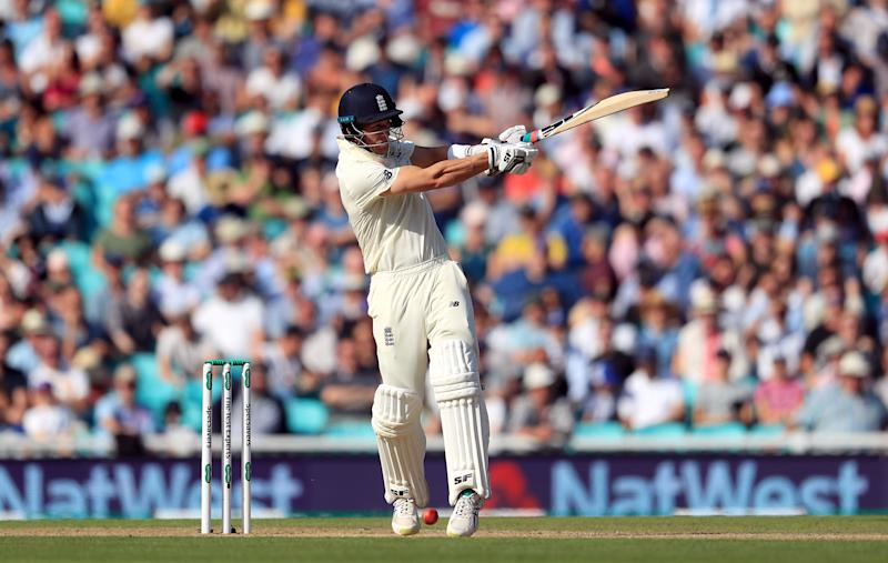 Englands Joe Denly batting during day three of the fifth test match at The Kia Oval, London. (Photo by Mike Egerton/PA Images via Getty Images)