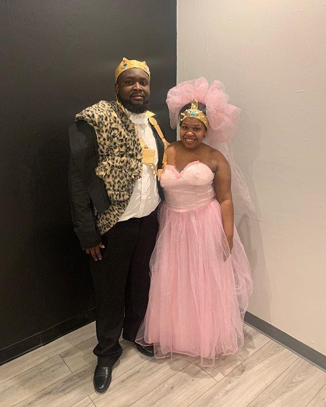 Try Out These Cute Halloween Costume Ideas For Black Couples This Year,Neon Wedding Dresses
