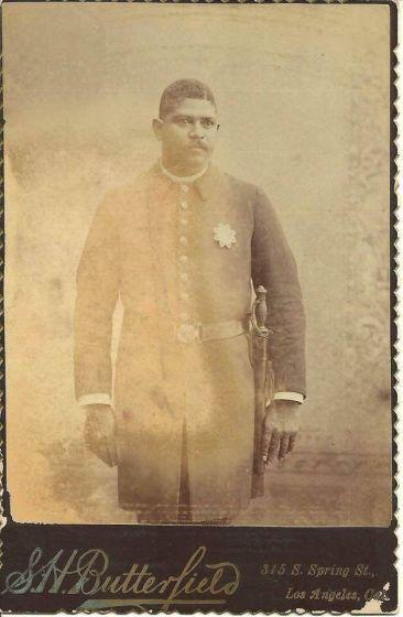 Los Angeles Policeman Robert Stewart, one of the LAPD's first Black officers.
