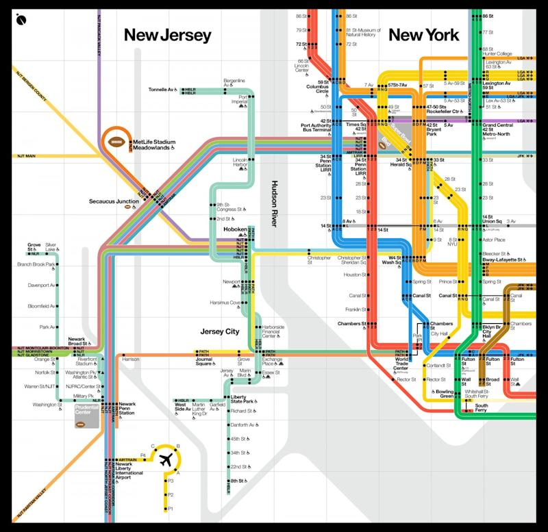 The MTA Made A nd New NYC Subway Map For The Super Bowl Mta Map on brooklyn battery tunnel map, path map, lirr map, san francisco municipal railway map, nycta map, north railroad map, bus map, wmata map, amtrak map, septa map, metro map, central park map, nyc map, queens plaza map, nj transit map, new jersey transit map, marc map, cta map, mbta map, staten island map,