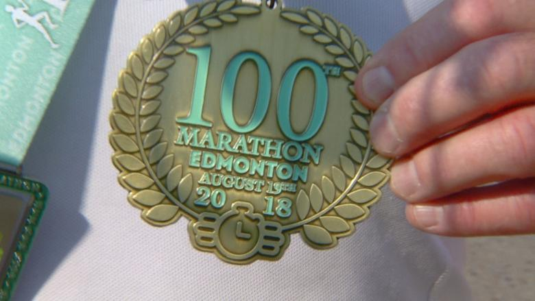 73-year-old Sherwood Park man completes 100th marathon