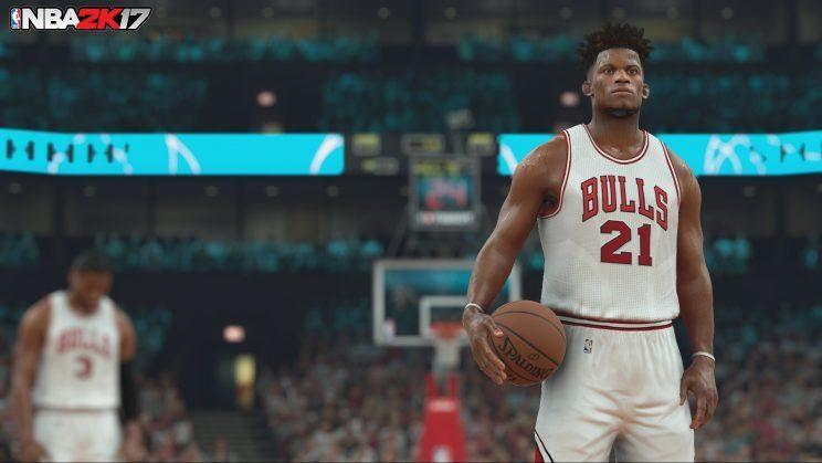 NBA 2K17 screenshot.