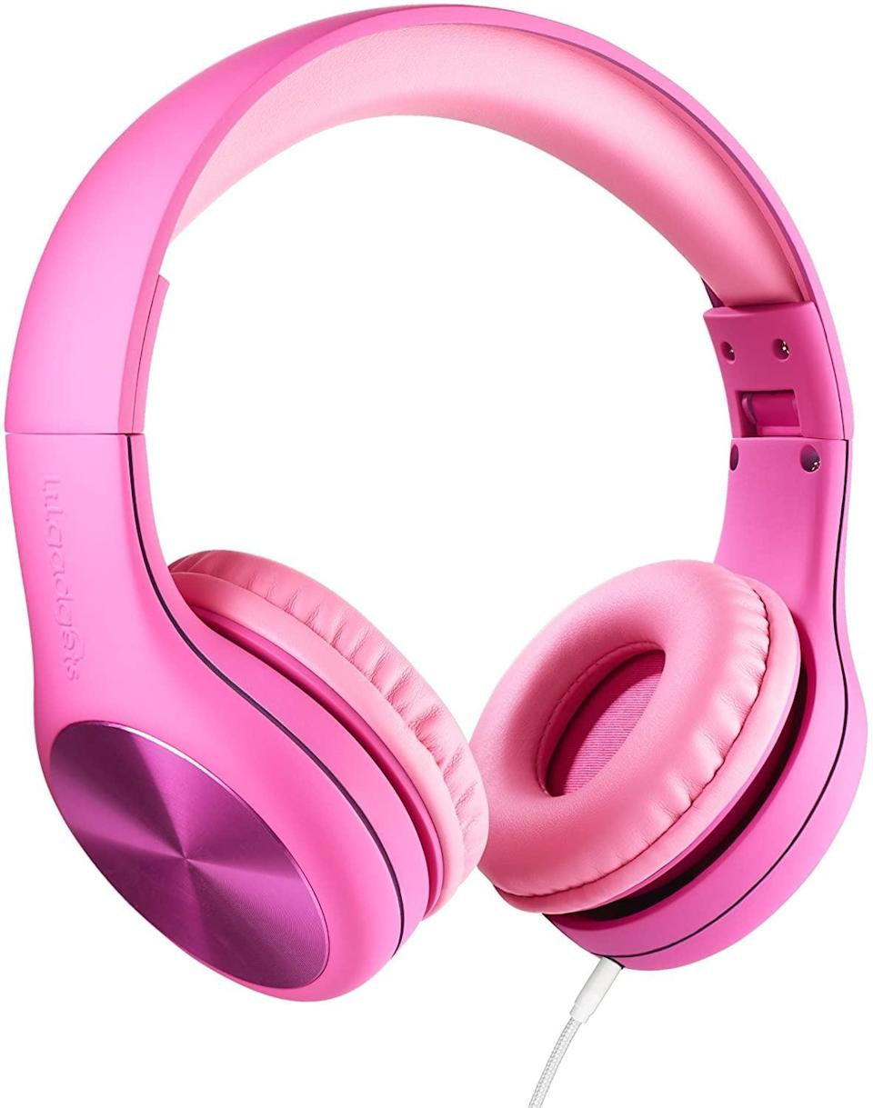 """<p>""""These <span>LilGadgets Connect+ Pro Kids Premium Volume Limited Wired Headphones</span> ($27) are bright and comfortable to wear. In addition to a quiet space to work, my kids really need headphones to block out noise while they are on their Zoom calls."""" - Dana Avidan Cohn, style director</p>"""
