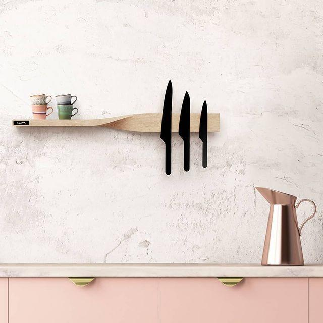 """<p>If you're working with a small kitchen try and utilise the space above the counter tops. Floating shelves are a good idea (make sure they're sturdy) and a wall-mounted knife rack always looks sophisticated, even if your favourite meal is cheese on toast.</p><p><a class=""""link rapid-noclick-resp"""" href=""""https://go.redirectingat.com?id=127X1599956&url=https%3A%2F%2Fwww.etsy.com%2Fuk%2Flisting%2F974954248%2Frustic-english-elm-magnetic-knife-holder%3Fga_order%3Dmost_relevant%26ga_search_type%3Dall%26ga_view_type%3Dgallery%26ga_search_query%3Dwall%2Bknife%2Bholder%26ref%3Dsr_gallery-1-4%26frs%3D1&sref=https%3A%2F%2Fwww.cosmopolitan.com%2Fuk%2Finteriors%2Fg3725%2Fclever-storage-solutions%2F"""" rel=""""nofollow noopener"""" target=""""_blank"""" data-ylk=""""slk:SHOP NOW"""">SHOP NOW</a></p><p><a href=""""https://www.instagram.com/p/CPyEj_yjOYH/"""" rel=""""nofollow noopener"""" target=""""_blank"""" data-ylk=""""slk:See the original post on Instagram"""" class=""""link rapid-noclick-resp"""">See the original post on Instagram</a></p>"""