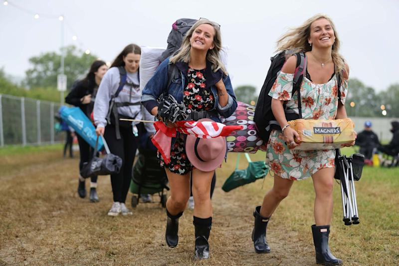 The festival will see 200,000 people descend on the Somerset fields (PA)